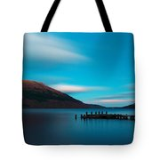 Loch Lomond Blue Tote Bag by Maria Gaellman