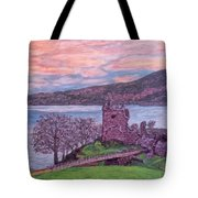 Loch Ness, Urquhart Castle Tote Bag