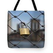 Lock And Bridge  Tote Bag