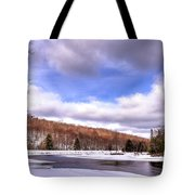 Lock And Dam Snowscape Tote Bag