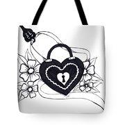 Locked Love Tote Bag