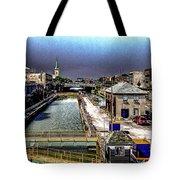 Lockport Canal Locks Tote Bag