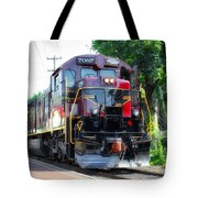 Locomotive In Color Tote Bag