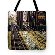 Locomotive Tracks Tote Bag