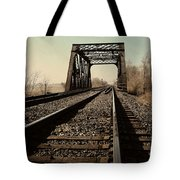 Locomotive Truss Bridge Tote Bag