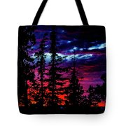 Lodge Sunset Tote Bag