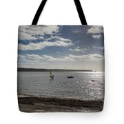 Loe Beach Windsurfers Tote Bag