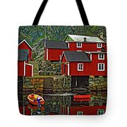 Lofoten Fishing Huts Tote Bag