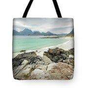 Lofoten Island Beach Scene Tote Bag