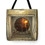 Loft Window At Night Tote Bag