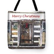 Log Cabin Christmas Tote Bag