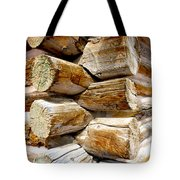 Log Cabin Corner Tote Bag