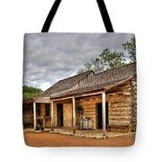 Log Cabin In Lbj State Park Tote Bag