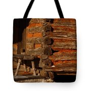 Log Cabin Tote Bag by Robert Frederick