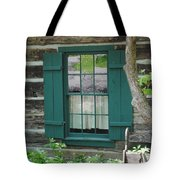 Log Cabin Window Tote Bag