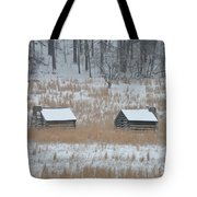 Log Cabins In Valley Forge Tote Bag
