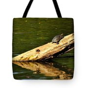 Log Turtle L 3584 Tote Bag