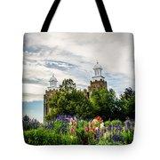 Logan Temple Flowers Tote Bag