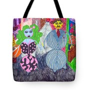 Lois And Arnold Roundabout Tote Bag