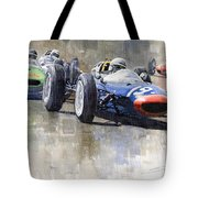 Lola Lotus Cooper Ferrari Datch Gp 1962 Tote Bag
