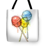 Lollipop Candy Watercolor Tote Bag