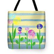 Lollipop Flower Bed Tote Bag