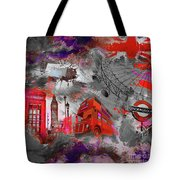 London Art 56 Tote Bag