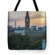 London Big Ben And The Shard Sunrise Tote Bag