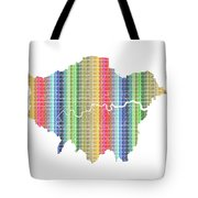 London Boroughs Map - Rainbow Tote Bag