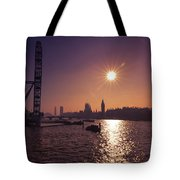London By Night By Day Tote Bag