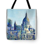 London City St Paul's Cathedral Tote Bag
