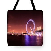 London Cityscape On River Thames Tote Bag