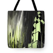London E1 Skyline Abstract  Tote Bag