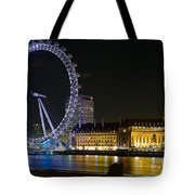 London Eye At Night Tote Bag