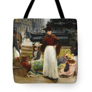 London Flower Girls Piccadilly Circus Tote Bag