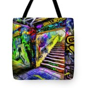 London Graffiti Van Gogh Tote Bag