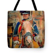 London Guard On Horse Tote Bag
