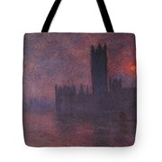 London Houses Of Parliament At Sunset  Tote Bag