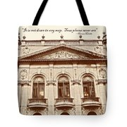 London Living Quote Tote Bag