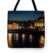 London Night Magic - Colorful Reflections On The Thames River Tote Bag