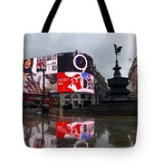 London Piccadilly On A Rainy Day Tote Bag