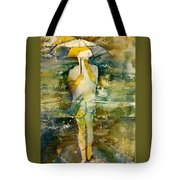 London Rain Theme Tote Bag