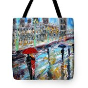 London Rainy Evening Tote Bag