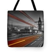 London Red Bus Tote Bag by Melanie Viola