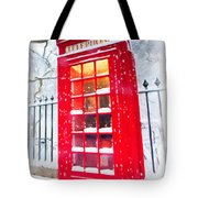 London Red Telephone Booth  Tote Bag