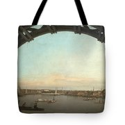 London Seen Through An Arch Of Westminster Bridge Tote Bag