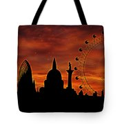 London Skyline At Dusk Tote Bag