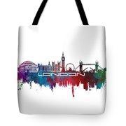 London Skyline City Blue Tote Bag
