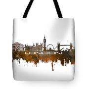 London Skyline City Brown Tote Bag