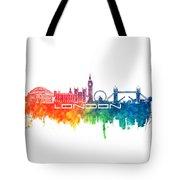 London Skyline City Color Tote Bag